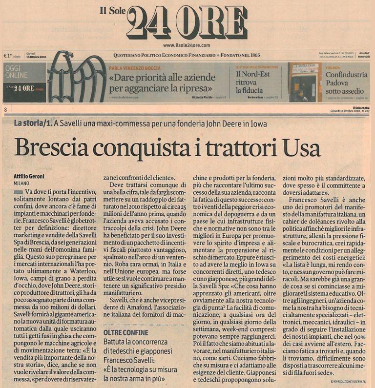 Italiano) (Il Sole 24 ORE) Brescia conquista i trattori USA � Savelli