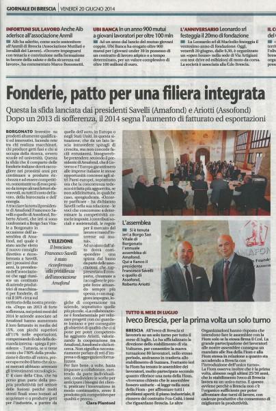 Giornale di Brescia - 20.06.14