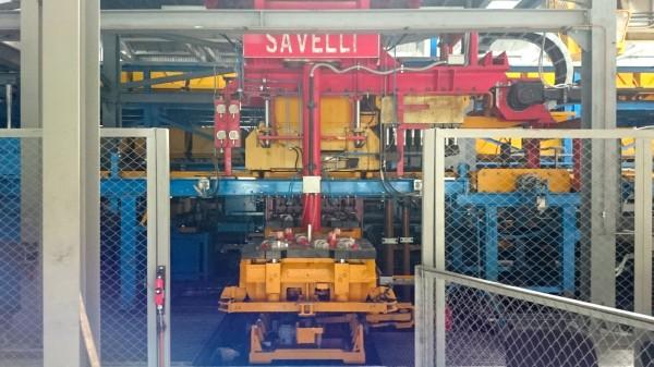 SAVELLI molding machine at POLIMET, Russia